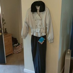 Obermyer ski suit vintage new with tags